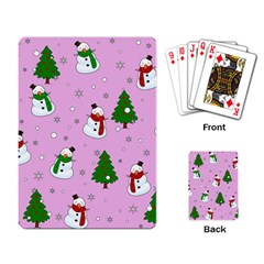 Snowman Pattern Playing Card by Valentinaart