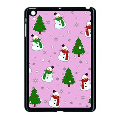 Snowman Pattern Apple Ipad Mini Case (black) by Valentinaart