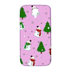 Snowman Pattern Samsung Galaxy S4 I9500/i9505  Hardshell Back Case by Valentinaart