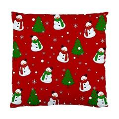 Snowman Pattern Standard Cushion Case (two Sides) by Valentinaart