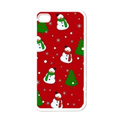Snowman Pattern Apple Iphone 4 Case (white) by Valentinaart