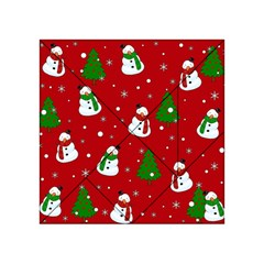 Snowman Pattern Acrylic Tangram Puzzle (4  X 4 ) by Valentinaart