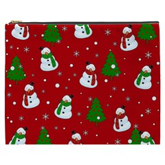 Snowman Pattern Cosmetic Bag (xxxl)  by Valentinaart