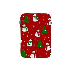Snowman Pattern Apple Ipad Mini Protective Soft Cases by Valentinaart