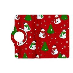 Snowman Pattern Kindle Fire Hd (2013) Flip 360 Case by Valentinaart