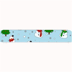 Snowman Pattern Small Bar Mats by Valentinaart