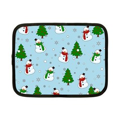 Snowman Pattern Netbook Case (small)  by Valentinaart