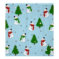 Snowman Pattern Shower Curtain 66  X 72  (large)  by Valentinaart