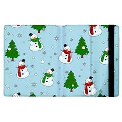 Snowman Pattern Apple Ipad 2 Flip Case by Valentinaart