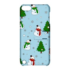 Snowman Pattern Apple Ipod Touch 5 Hardshell Case With Stand by Valentinaart