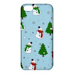 Snowman Pattern Apple Iphone 5c Hardshell Case by Valentinaart