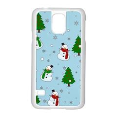 Snowman Pattern Samsung Galaxy S5 Case (white) by Valentinaart