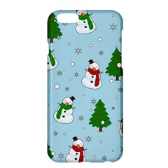 Snowman Pattern Apple Iphone 6 Plus/6s Plus Hardshell Case by Valentinaart