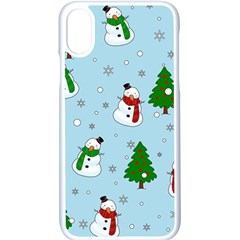 Snowman Pattern Apple Iphone X Seamless Case (white) by Valentinaart