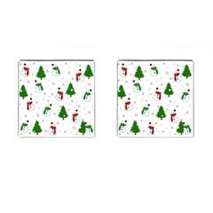 Snowman Pattern Cufflinks (square) by Valentinaart
