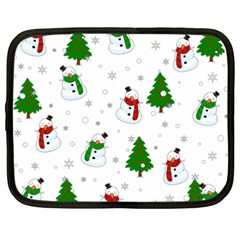 Snowman Pattern Netbook Case (xxl)  by Valentinaart