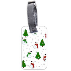Snowman Pattern Luggage Tags (two Sides) by Valentinaart