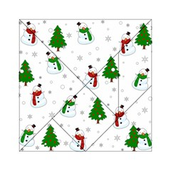 Snowman Pattern Acrylic Tangram Puzzle (6  X 6 ) by Valentinaart
