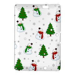 Snowman Pattern Kindle Fire Hdx 8 9  Hardshell Case by Valentinaart