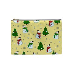 Snowman Pattern Cosmetic Bag (medium)  by Valentinaart