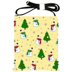 Snowman Pattern Shoulder Sling Bags by Valentinaart