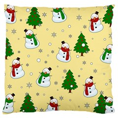 Snowman Pattern Large Cushion Case (one Side) by Valentinaart