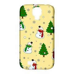 Snowman Pattern Samsung Galaxy S4 Classic Hardshell Case (pc+silicone) by Valentinaart
