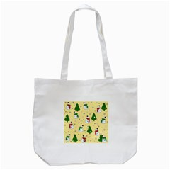 Snowman Pattern Tote Bag (white) by Valentinaart