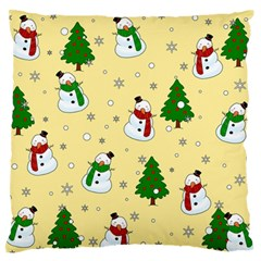 Snowman Pattern Standard Flano Cushion Case (one Side) by Valentinaart