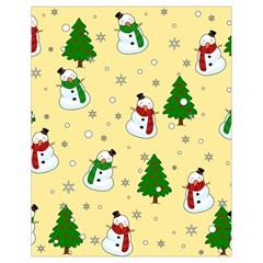 Snowman Pattern Drawstring Bag (small) by Valentinaart