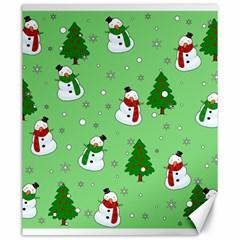 Snowman Pattern Canvas 20  X 24   by Valentinaart