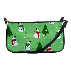 Snowman Pattern Shoulder Clutch Bags by Valentinaart