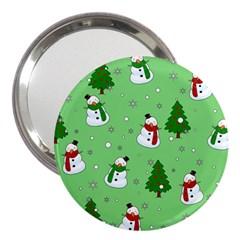 Snowman Pattern 3  Handbag Mirrors by Valentinaart