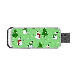 Snowman Pattern Portable Usb Flash (two Sides) by Valentinaart