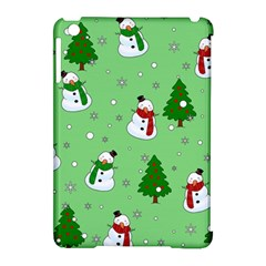 Snowman Pattern Apple Ipad Mini Hardshell Case (compatible With Smart Cover) by Valentinaart