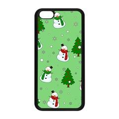 Snowman Pattern Apple Iphone 5c Seamless Case (black) by Valentinaart