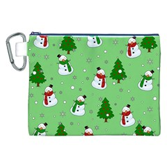 Snowman Pattern Canvas Cosmetic Bag (xxl) by Valentinaart