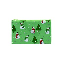 Snowman Pattern Cosmetic Bag (xs)