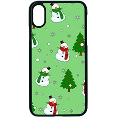 Snowman Pattern Apple Iphone X Seamless Case (black) by Valentinaart