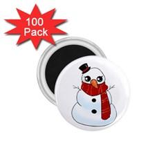 Kawaii Snowman 1 75  Magnets (100 Pack)  by Valentinaart