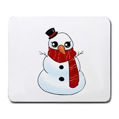 Kawaii Snowman Large Mousepads by Valentinaart
