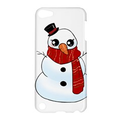 Kawaii Snowman Apple Ipod Touch 5 Hardshell Case by Valentinaart