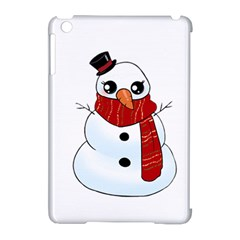 Kawaii Snowman Apple Ipad Mini Hardshell Case (compatible With Smart Cover) by Valentinaart