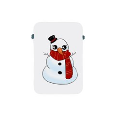 Kawaii Snowman Apple Ipad Mini Protective Soft Cases by Valentinaart