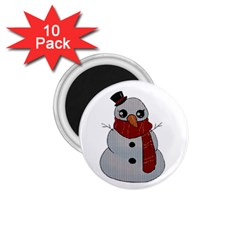 Kawaii Snowman 1 75  Magnets (10 Pack)  by Valentinaart