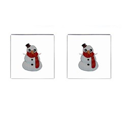 Kawaii Snowman Cufflinks (square) by Valentinaart