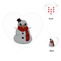 Kawaii Snowman Playing Cards (heart)  by Valentinaart