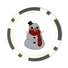 Kawaii Snowman Poker Chip Card Guard (10 Pack) by Valentinaart