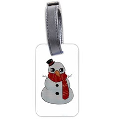 Kawaii Snowman Luggage Tags (two Sides) by Valentinaart