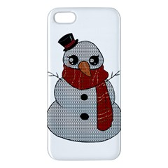 Kawaii Snowman Iphone 5s/ Se Premium Hardshell Case by Valentinaart